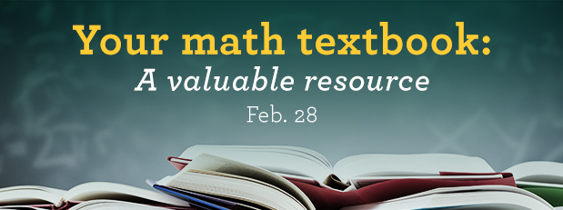 Your mathematics textbook: A valuable resource